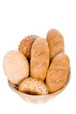 bröd isolerad white Royaltyfri Fotografi