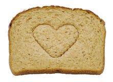 bröd isolerade jag förälskelse Fotografering för Bildbyråer