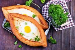 Bröd med ägget Royaltyfri Foto