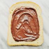 Bröd med chokladpralin Royaltyfri Bild
