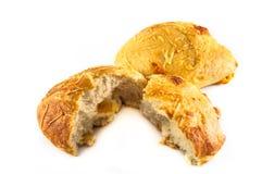Bröd med grated cheeze Arkivbild