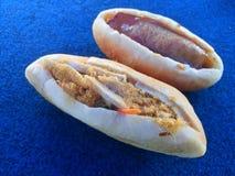Bröd med griskött Arkivfoto