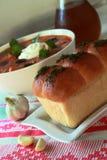Bröd med kryddor för borsch Arkivbilder