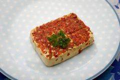 Bröd med pesto Royaltyfri Foto