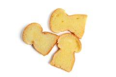 Bröd med smör Arkivbild