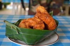 Bröd med thai vaniljsåsmat Arkivbilder