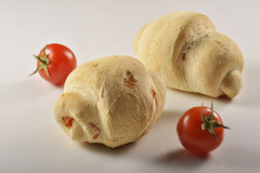 Bröd med tomato_1 Arkivfoton