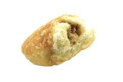 Bröd med torkat strimlat griskött Fotografering för Bildbyråer