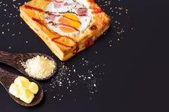Bröd och ägg Arkivbild
