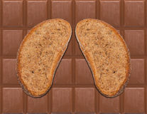 Bröd och choklad II royaltyfria bilder