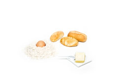 Bröd och dess ingredienser Royaltyfri Bild