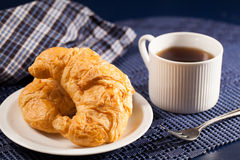 Bröd och kaffe Royaltyfria Bilder