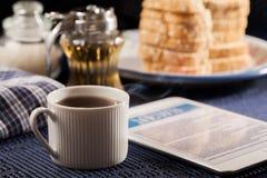 Bröd och kaffe Royaltyfria Foton