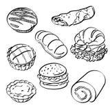 Bröd- och kakasamling Arkivfoton