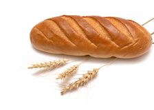 Bröd och vete royaltyfria foton