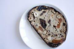 Bröd på en plätera Royaltyfri Fotografi