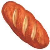 Bröd på en vitbakgrund royaltyfri illustrationer