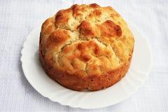 Bröd på plattan/bunken royaltyfria bilder