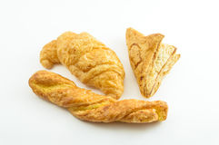 Bröd på white Royaltyfri Foto