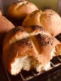 Bröd rullar hemlagat royaltyfria bilder