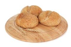 bröd rullar wholegrain Arkivfoton