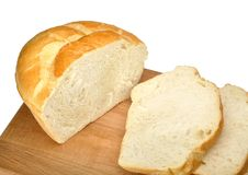 bröd skivad white Royaltyfria Foton