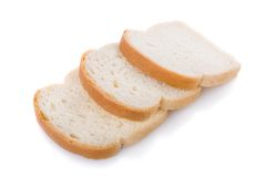 bröd skivar tre Fotografering för Bildbyråer