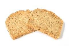 bröd skivar två Arkivfoton