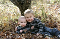 bröder little Fotografering för Bildbyråer