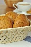 brödfrukost Arkivfoton