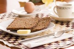 brödfrukost Fotografering för Bildbyråer