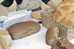 Brödmarknad Sale Royaltyfria Foton