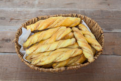 Brödpinnar med penaut Arkivfoto