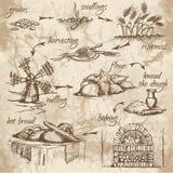 Brödproduktion royaltyfri illustrationer