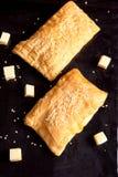 Brödpuff med ost Royaltyfri Bild
