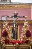 Brödraskap av bra beställning, påsk i Seville Arkivfoton