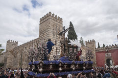 Brödraskap av Cerro del Aguila, påsk i Seville Arkivfoton
