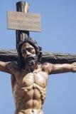 Brödraskap av den heliga veckan för ye i Seville Arkivfoto