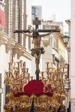 Brödraskap av den heliga veckan för ye i Seville Royaltyfri Bild