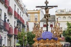 Brödraskap av den heliga veckan för ye i Seville Royaltyfria Foton