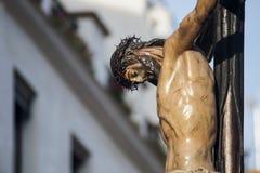 Brödraskap av den Negritos påskveckan i Seville Arkivfoton