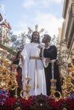Brödraskap av kyssen av judas, helig vecka i Seville, Spanien Royaltyfri Fotografi
