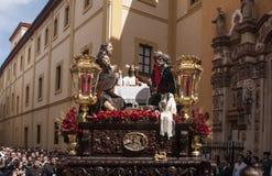 Brödraskapmatställe, påsk i Seville Arkivbilder