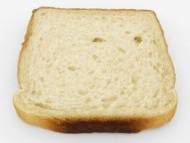 Brödskiva - enkel rostat brödnärbild - som isoleras på vit Royaltyfri Foto
