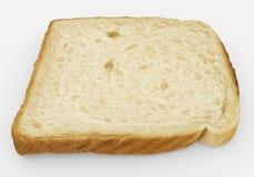 Brödskiva - enkel rostat brödnärbild - som isoleras på vit Royaltyfri Fotografi