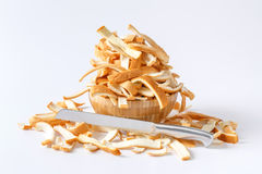 Brödskorpa som klipps av Royaltyfria Foton