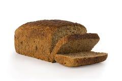 brödsnittet släntrar kärnar ur white Royaltyfria Bilder