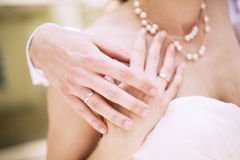 Bröllopögonblick Royaltyfria Foton
