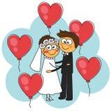 Bröllop av ett härligt par Arkivfoton