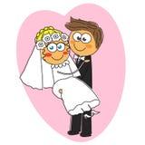 Bröllop av ett härligt par Arkivbilder